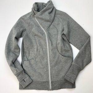 Lululemon Cuddle Up zip up heather gray sweatshirt